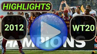 ICC World Twenty20 2012 Match Highlights Online