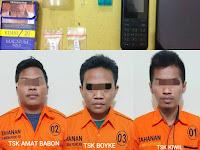 Amat Babon 'Bocor' Kiwil dan Oboy Ikut Digelandang Anggota Satresnarkoba Polres HSU