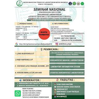 Seminar Nasional IMATELKI DPW D.I Yogyakarta 2019 | Pengendalian dan Sistem Dokumentasi Laboratorium