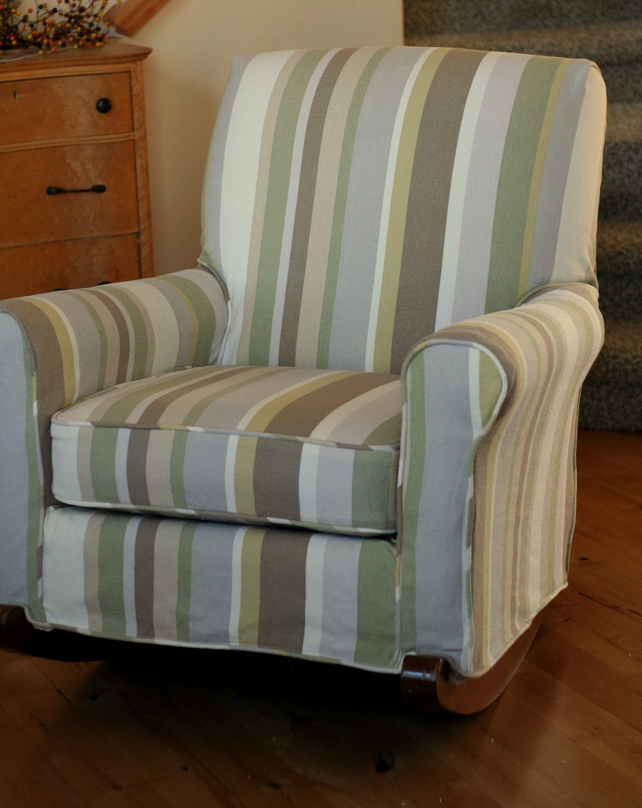 Custom Slipcovers by Shelley: Upholstered Rocking chair