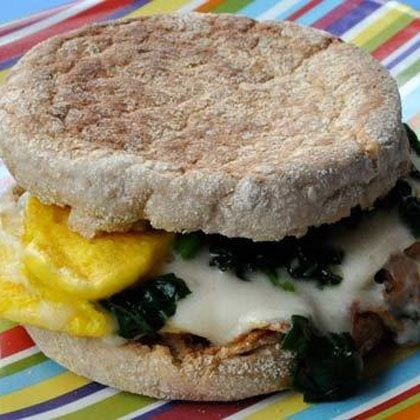 Spinach and Cheese Egg-wich