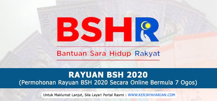 Permohonan Rayuan Bantuan Sara Hidup (BSH) Bermula Pada 7 Ogos 2020
