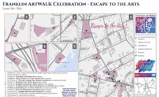 Escape to the Arts! with Franklin's ArtWALK Celebration - Jun 11-12-13