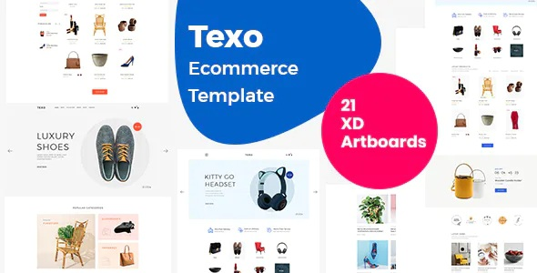 Best Multipurpose eCommerce Adobe XD Template
