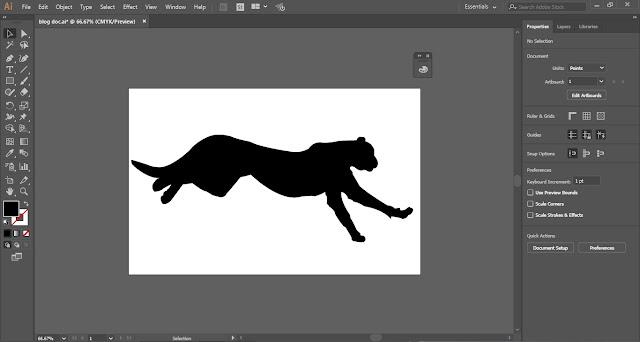 Silhouette in Adobe Illustrator