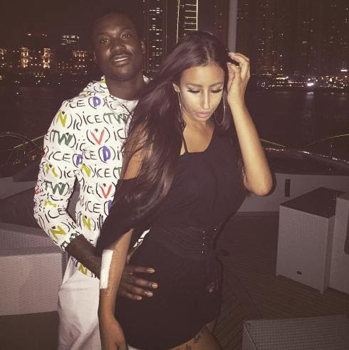 Meek Mill pictured with his hot new girlfriend