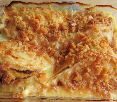 Cabbage, Cheese & Mustard Gratin for two