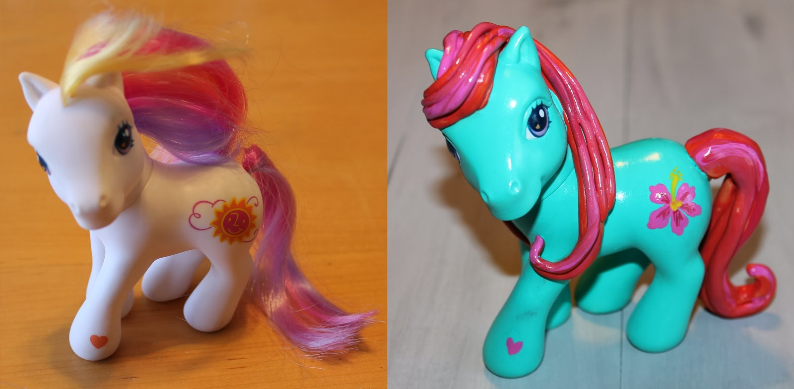 http://doodlecraft.blogspot.com/2013/04/diy-custom-my-little-ponies.html