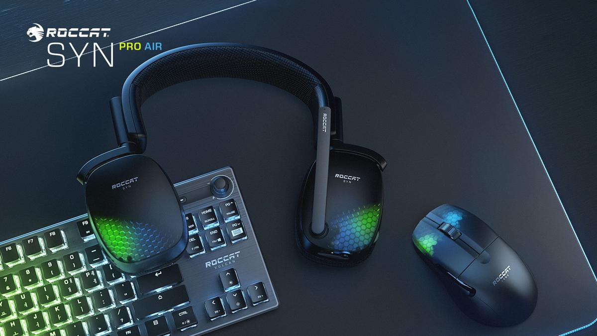 ROCCAT'S SYN PRO AIR – THE AWARD-WINNING PC ACCESSORY BRAND'S NEW WIRELESS 3D AUDIO PC GAMING HEADSET – AVAILABLE NOW