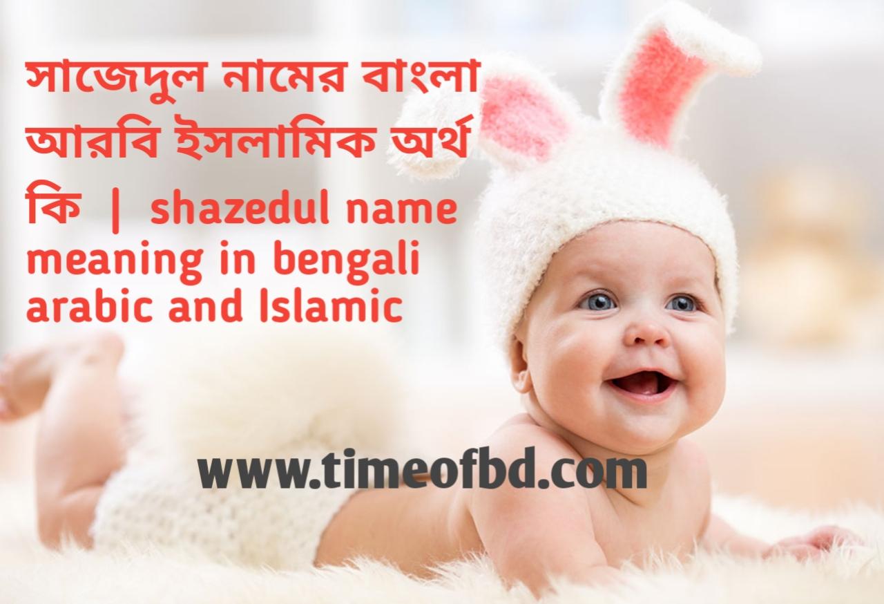 সাজেদুল নামের অর্থ কী, সাজেদুল নামের বাংলা অর্থ কি, সাজেদুল নামের ইসলামিক অর্থ কি, shazedul  name meaning in bengali