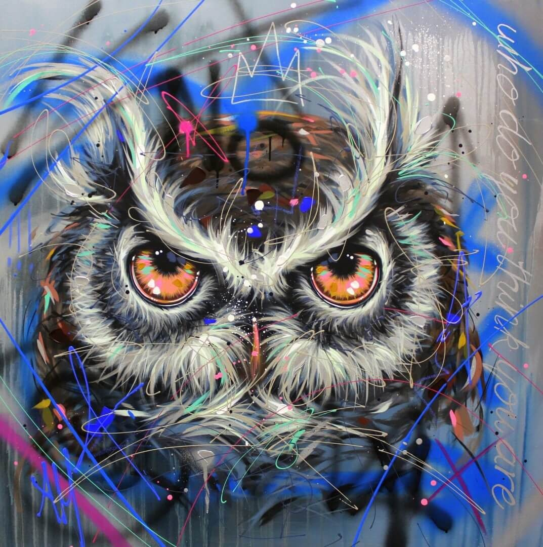 15-Owl-Andrea-Marqui-Bright-Paintings-of-Animal-Portraits-www-designstack-co