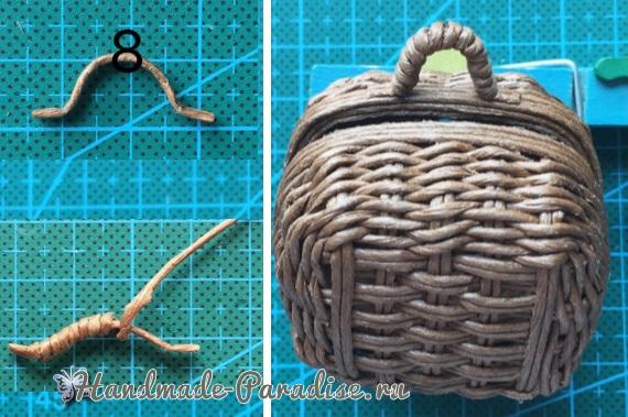 Плетение сумки из проволоки для куклы (11)