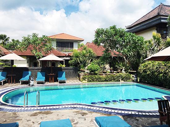 hotel segara agung pool, bali, indonesia