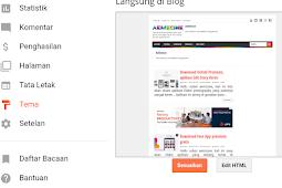 Cara Mengganti Tema Blog di blogger