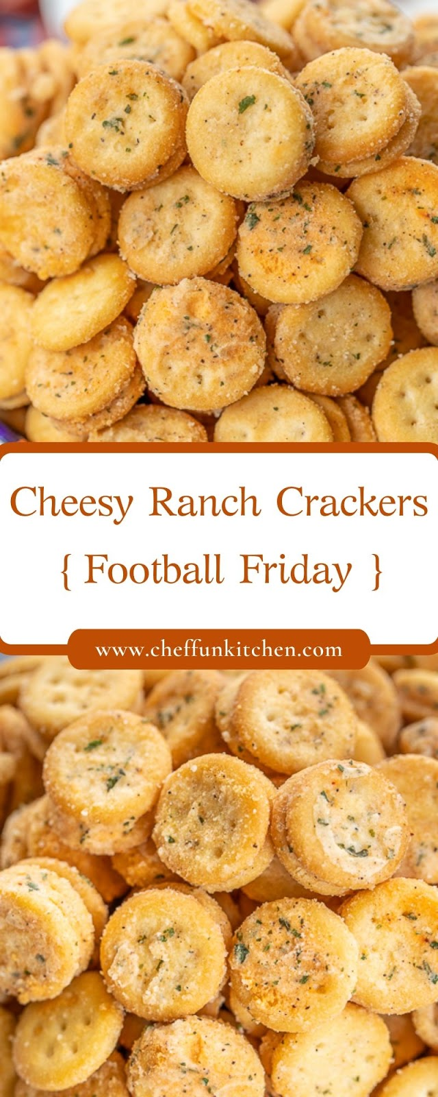 Cheesy Ranch Crackers - Football Friday