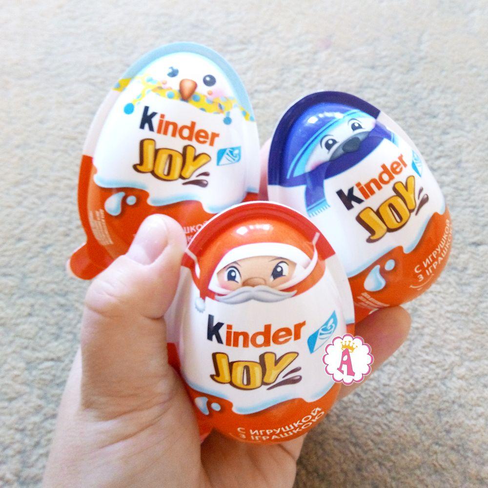 Kinder Joy коллекция с рождественскими игрушками на елку 2019
