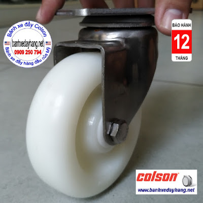 Bánh xe đẩy chuyển hướng càng Inox 304 Colson 4 inch | 2-4456-254 banhxedaycolson.com