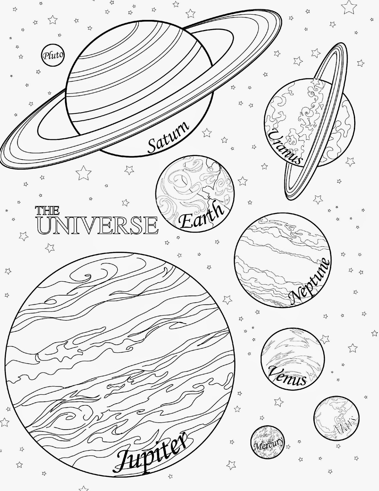 Venus Planet Coloring Pages Printable Sketch Coloring Page