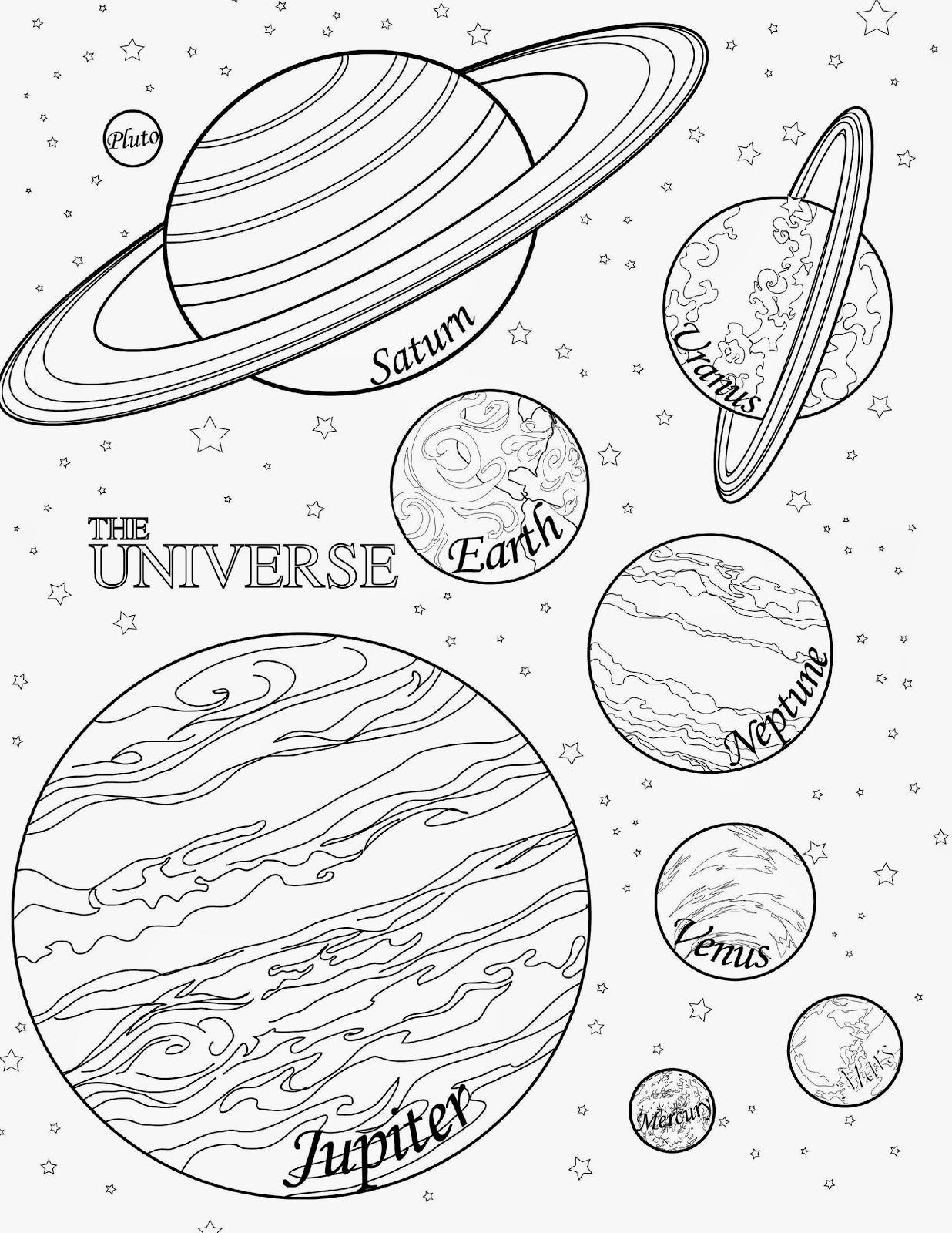Venus Planet Coloring Pages Printable Sketch Coloring Page