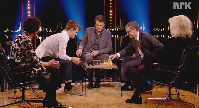 Echecs : Bill Gates battu par Carlsen © NRK