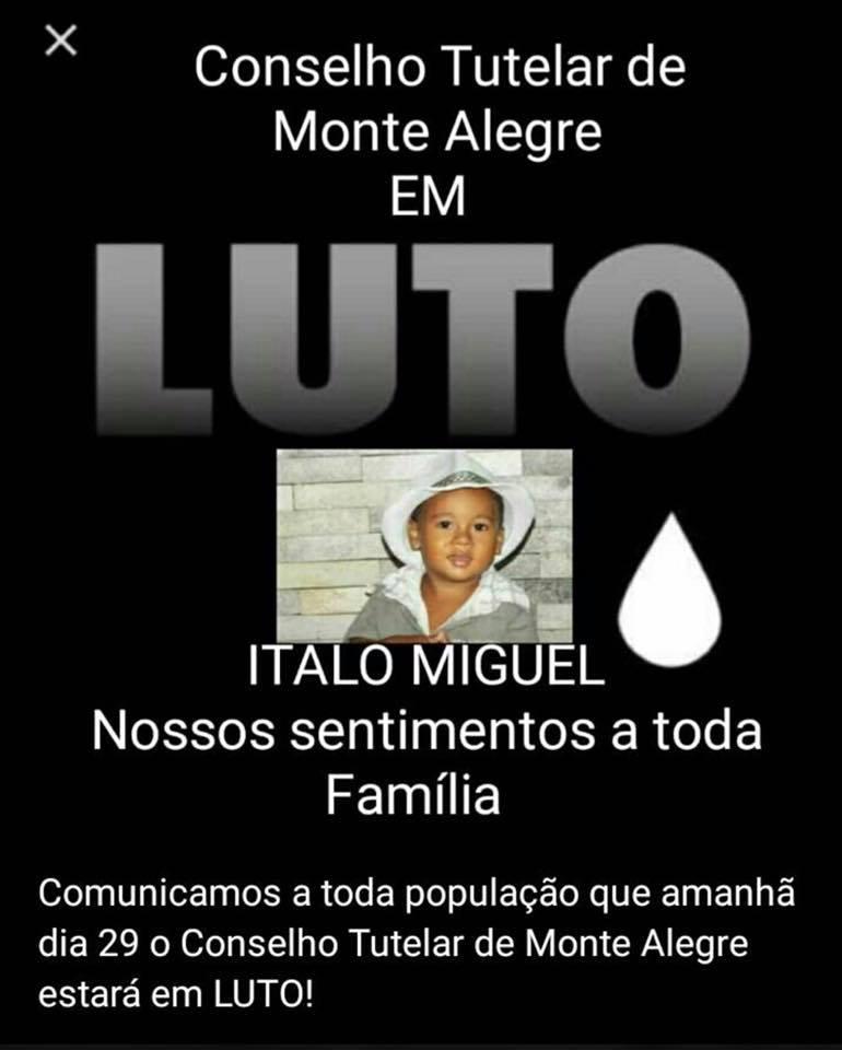 64305f180a4a8 O conselho tutelar da criança e do adolescente de Monte Alegre usou as  redes sociais, por meio da conselheira tutelar Rafaela Galdino para  comunicar que o ...