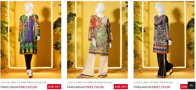 Junaid jamshed women kurti pretwear sale collection