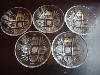 コシダクリスタル ガラス 皿 JAPAN