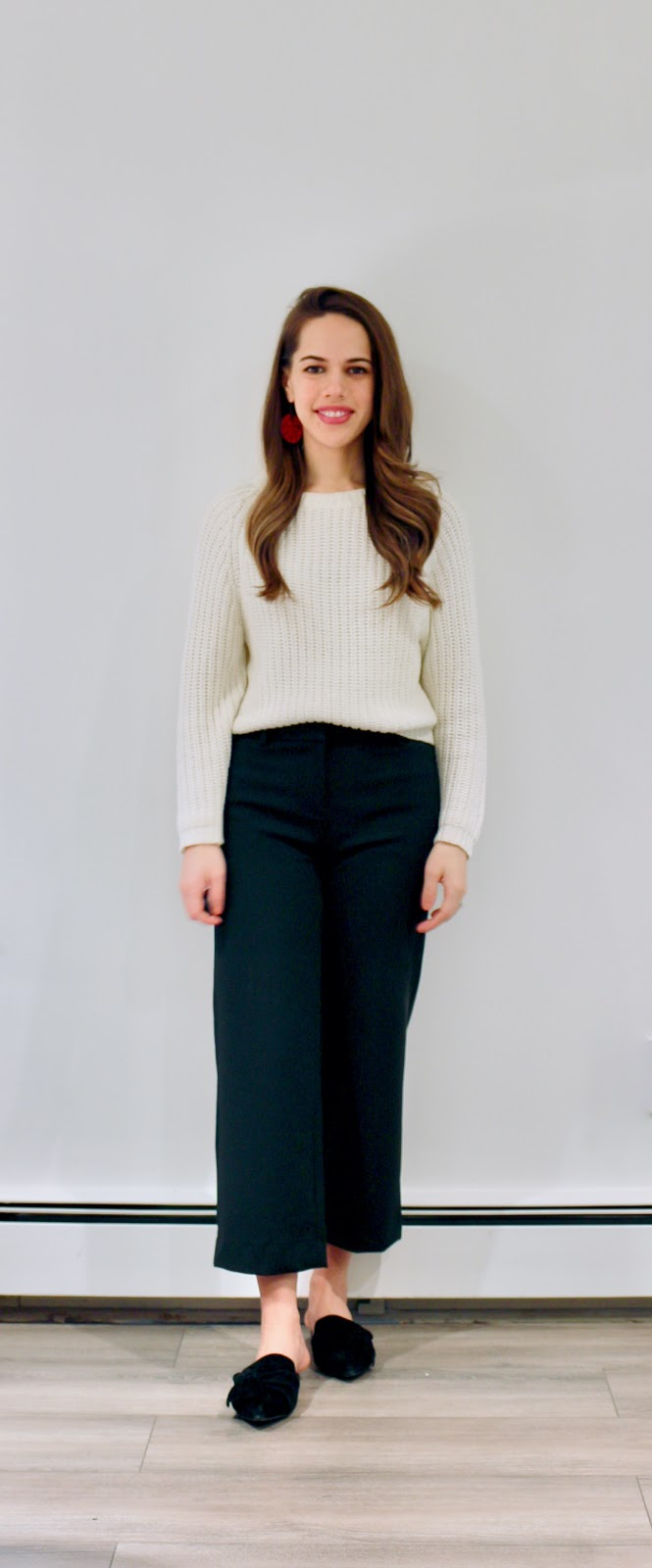 Jules in Flats - J.Crew Peyton Wide Leg Cropped Pants (Business Casual Winter Workwear on a Budget)