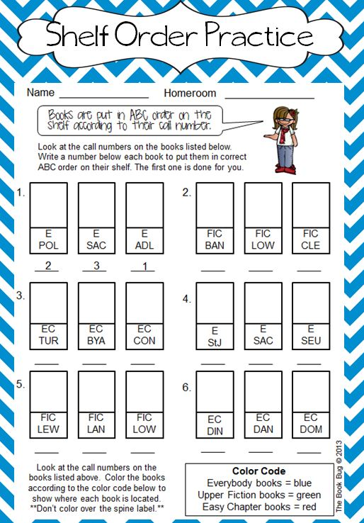 The Book Bug Abc Order For Firsties