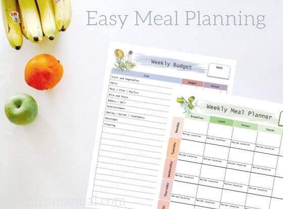 Family Meal Planner and Beginners Guide for easy meal planning