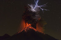 Volcán de Colima Eruption