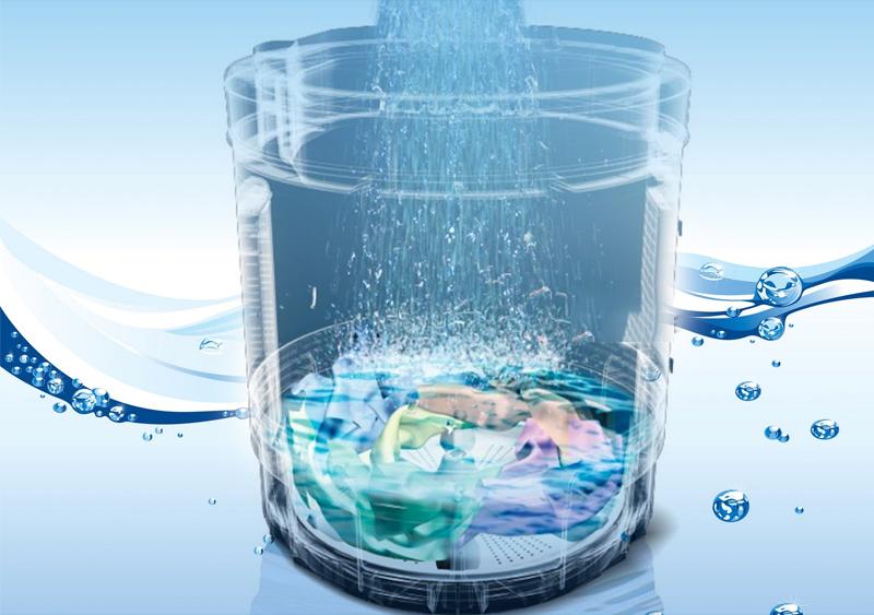 Chế độ vắt xả Aqua Spin Rinse tiết kiệm nước