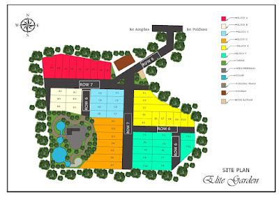 Site Plan Rumah Desain Mewah - Harga Rumah Subsidi - Hanya 190 Jutaan di Marendal Amplas Patumbak Medan - Perumahan Elite Garden