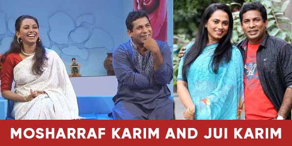 Mosharraf Karim with his wife image