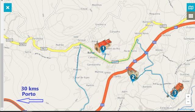 mapa interativo da Rota do Românico