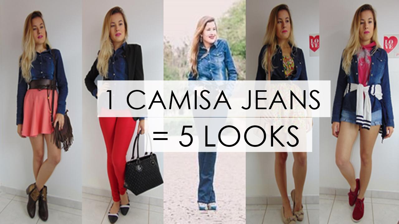 5 formas de usar camisa jeans - Ally Arruda - Aline Arruda