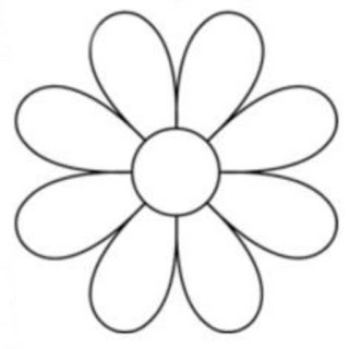 eight petal flower design
