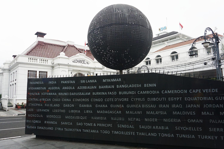 Tugu Global Jalan Asia Aftrika