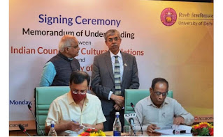 MoU signed between ICCR and Delhi University