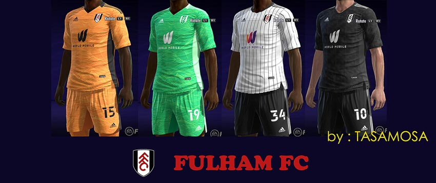 Fulham FC 2021-2022 Kits For PES 2013