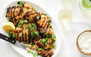 Grilled thyme chicken