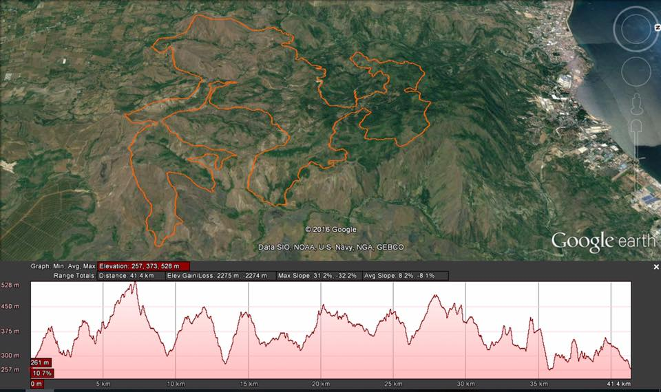 Mapawa Trail Marathon official map and elevation profile