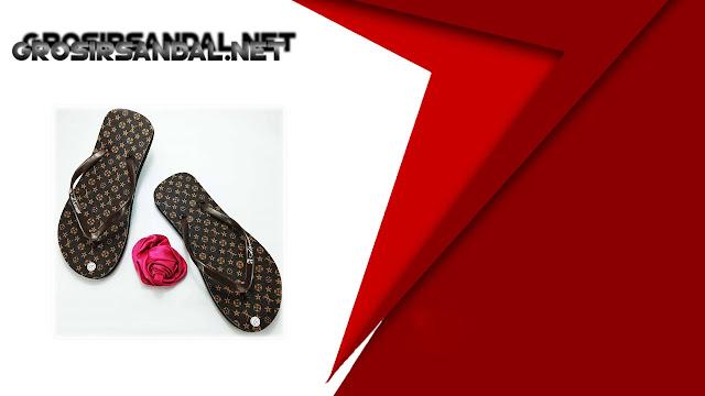 Sandal Jepit Spon AMX Motif Bunga Wanita