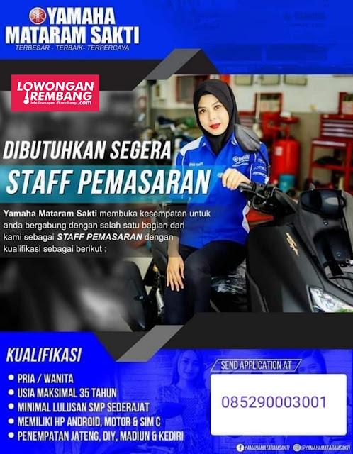 Lowongan Kerja Staff Pemasaran Yamaha Mataram Sakti Rembang