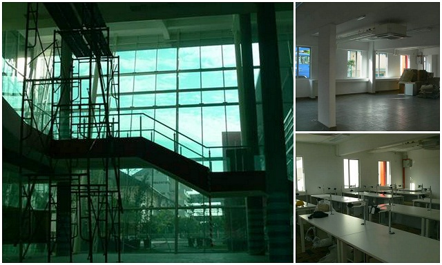 Some photos captured during the renovation in progress of the facilities at INTI International College Subang