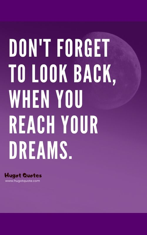 Don't Forget To Look Back.