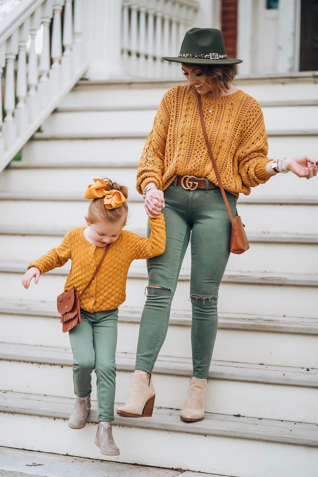 Mustard Yellow Paired With Olive Green For Fall - Affordable Style - Something Delightful Blog #fallstyle