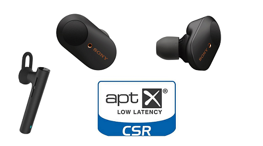 Wireless earbuds with AptX tech