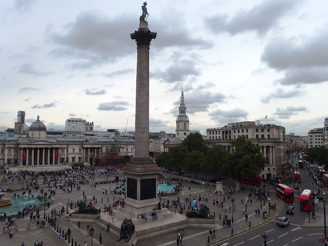 Nelson's column as seen from the 5th floor of Tourism Malaysia's offices on Trafalgar Square