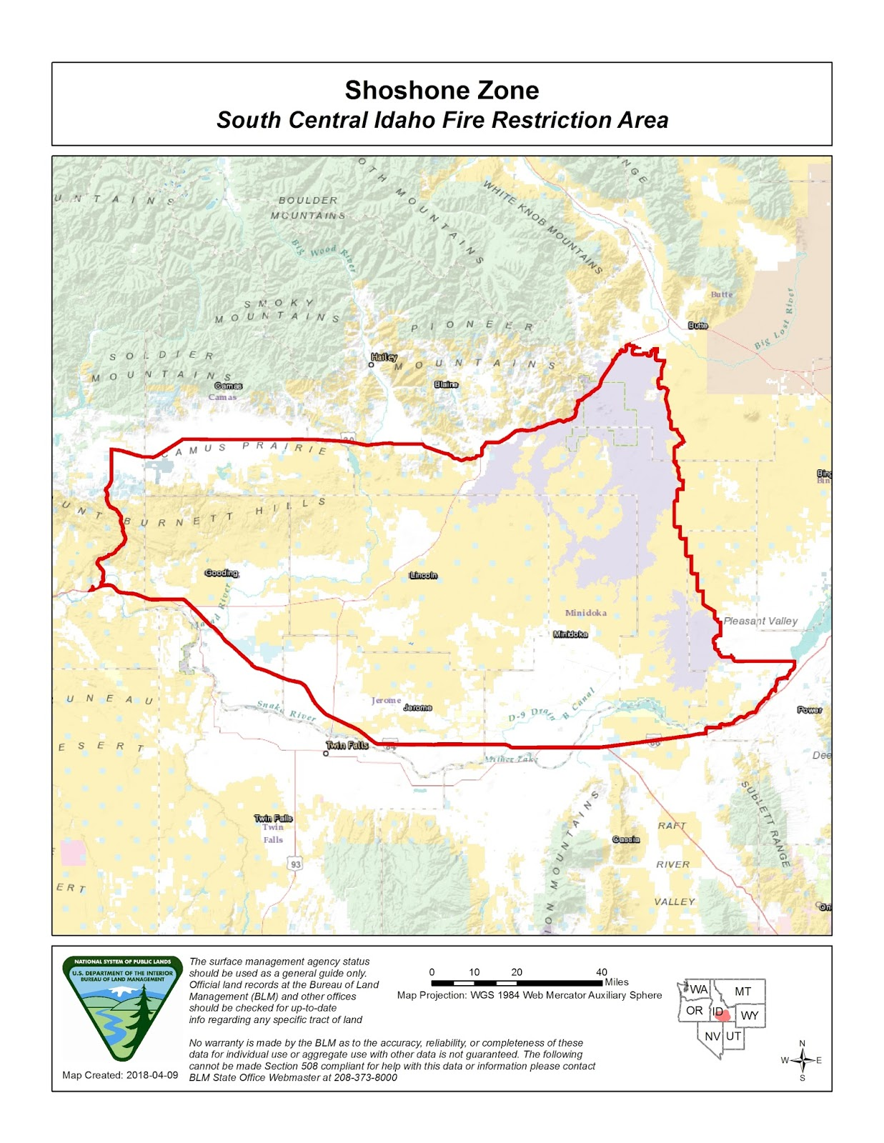 Idaho Fire Information South Central Fire Restrictions Area